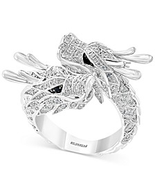 EFFY® Diamond Double Dragon Statement Ring (7/8 ct. t.w.) in 14k White Gold