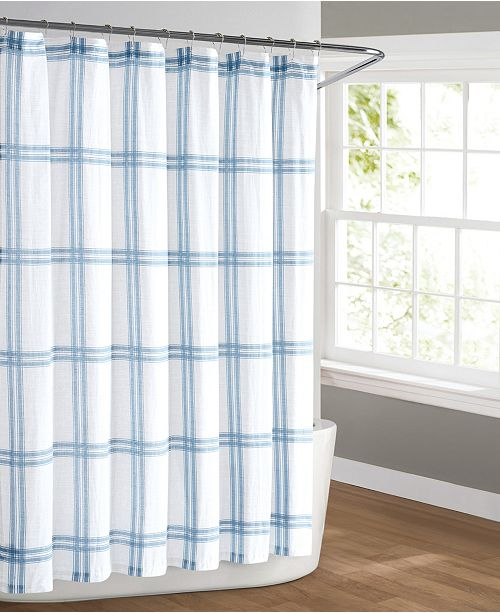 Cottage Classics Farmhouse Plaid Shower Curtain