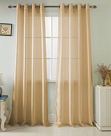 "Nancy 54"" x 84"" Faux Silk Curtain Panel"