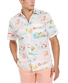 Men's Welcome to Palm Springs Floral Shirt