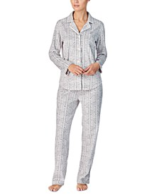 Women's Printed Fleece Pajama Set