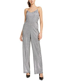 Metallic Cowlback Jumpsuit