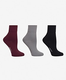Women's 3-Pk. Soft Microfiber Demi Crew Socks