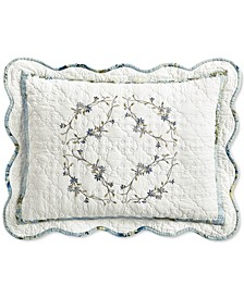 Quilted Embroidered Floral Standard Sham, Created for Macy's