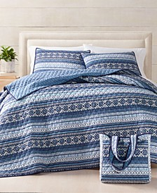 Fair Isle Essential Quilt Bag Sets, Created For Macy's