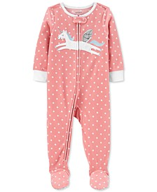 Baby Girls Unicorn Fleece Pajamas