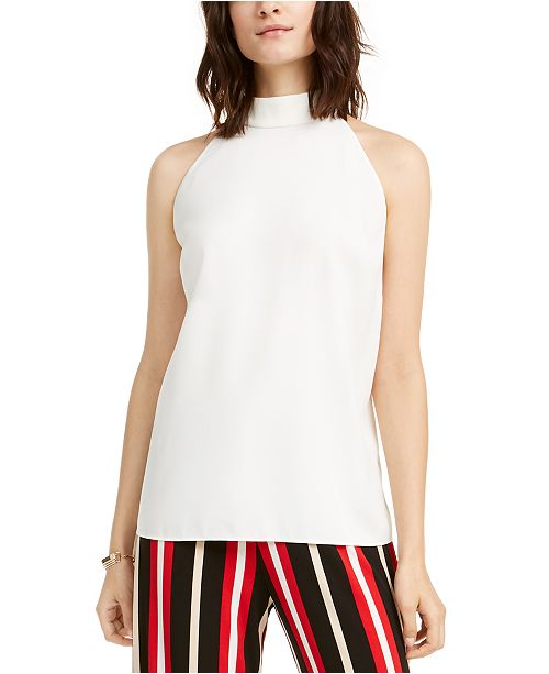 Alfani High-Neck Tunic Blouse, Created For Macy's