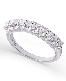 Diamond 1/10 ct. t.w. Miracle Plate Band Ring in Sterling Silver