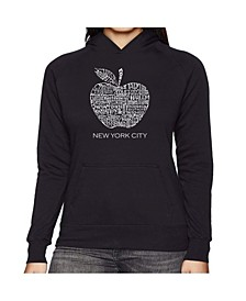 Women's Word Art Hooded Sweatshirt -Neighborhoods In Nyc
