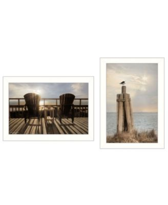 """By The Sea Collection By Lori Deiter, Printed Wall Art, Ready to hang, White Frame, 20"""" x 14"""""""