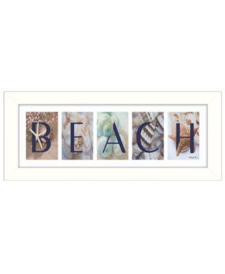 Beach By Robin-Lee Vieira, Printed Wall Art, Ready to hang, White Frame, 20