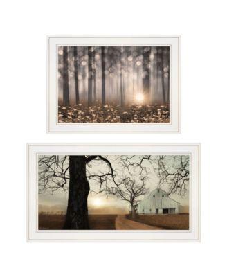 "Enchanted Sunrise 2-Piece Vignette by Lori Deiter, White Frame, 27"" x 15"""