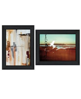 """Abstract Flight 2-Piece Vignette by Cloverfield Co, Black Frame, 19"""" x 15"""""""