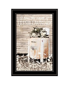 "Trendy Decor 4U Fresh Laundry by Lori Deiter, Ready to hang Framed Print, Black Frame, 15"" x 21"""