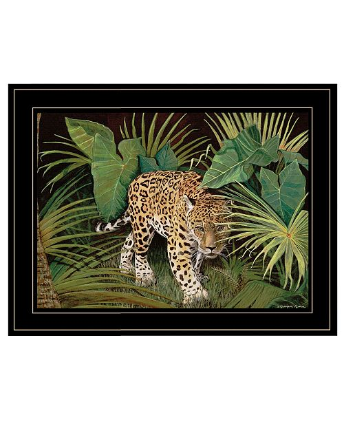 """Trendy Decor 4U Trendy Decor 4U On the Prowl Leopard by Jacquee Krause, Ready to hang Framed Print, Black Frame, 19"""" x 15"""""""