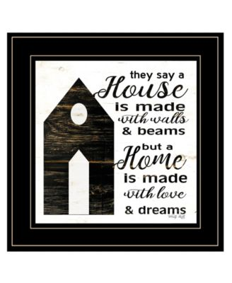 """A House by Cindy Jacobs, Ready to hang Framed Print, Black Frame, 15"""" x 15"""""""