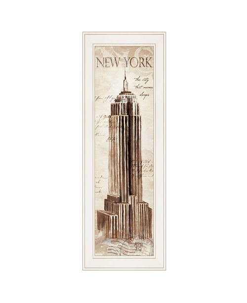 "Trendy Decor 4U Trendy Decor 4U New York Panel by Cloverfield Co, Ready to hang Framed Print, White Frame, 8"" x 23"""