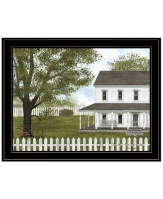 """Green, Green Grass of Home by Billy Jacobs, Ready to hang Framed Print, Black Frame, 27"""" x 21"""""""