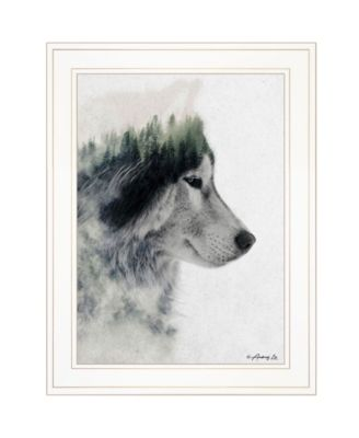"""Wolf Stare by andreas Lie, Ready to hang Framed Print, White Frame, 15"""" x 19"""""""