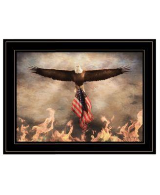 Blaze of Glory by Lori Deiter, Ready to hang Framed Print, White Frame, 21