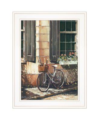 "Picnic Getaway by John Rossini, Ready to hang Framed Print, White Frame, 15"" x 19"""