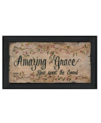 Amazing Grace By Gail Eads, Printed Wall Art, Ready to hang, Black Frame, 23