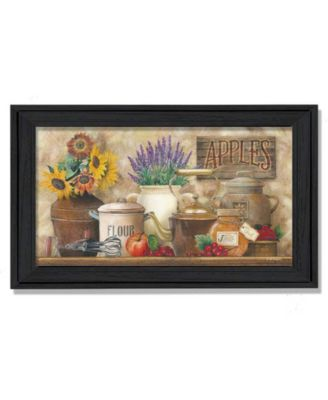 Antique Kitchen By Ed Wargo, Printed Wall Art, Ready to hang, Black Frame, 11