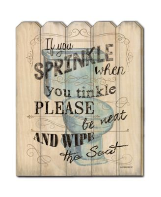 """If You Sprinkle by Debbie DeWitt, Printed Wall Art on a Wood Picket Fence, 16"""" x 20"""""""
