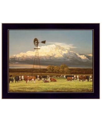 """Summer Pastures by Bonnie Mohr, Ready to hang Framed Print, Black Frame, 18"""" x 14"""""""