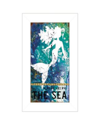 """Under the Sea by Cindy Jacobs, Ready to hang Framed Print, White Frame, 11"""" x 19"""""""