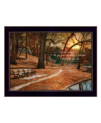 """I Will Give You Rest by by Robin-Lee Vieira, Ready to hang Framed Print, Black Frame, 18"""" x 14"""""""