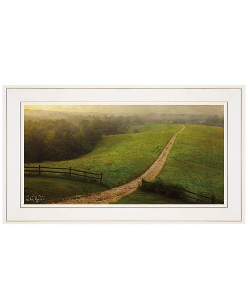 "Trendy Decor 4U Trendy Decor 4U The Long Drive Home by Ron Jones, Ready to hang Framed print, White Frame, 21"" x 15"""