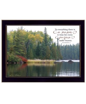 """To Everything There is a Season by Kim Norlien, Ready to hang Framed Print, Black Frame, 18"""" x 14"""""""