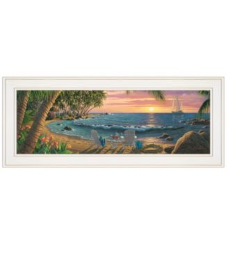 """Summer Breeze by Kim Norlien, Ready to hang Framed Print, White Frame, 27"""" x 11"""""""
