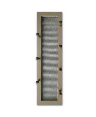 "7-Peg Mug Rack by Millwork Engineering, Taupe Frame, 7"" x 26"""