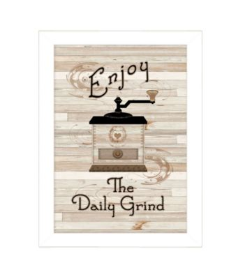 """The Daily Grind by Millwork Engineering, Ready to hang Framed Print, White Frame, 10"""" x 14"""""""