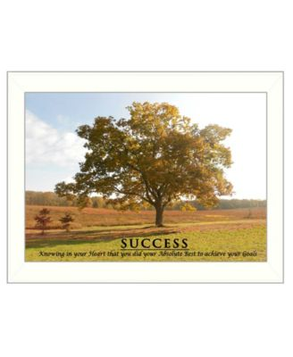 """Success By Trendy Decor4U, Printed Wall Art, Ready to hang, White Frame, 14"""" x 10"""""""