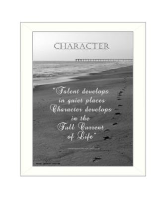 """Character By Trendy Decor4U, Printed Wall Art, Ready to hang, White Frame, 18"""" x 14"""""""