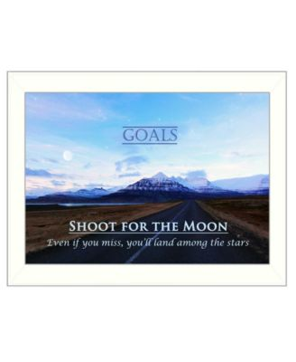 """Goals By Trendy Decor4U, Printed Wall Art, Ready to hang, White Frame, 14"""" x 10"""""""