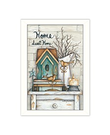 """Home Sweet Home By Mary June, Printed Wall Art, Ready to hang, White Frame, 14"""" x 20"""""""