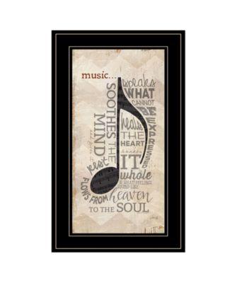 "Music by Marla Rae, Ready to hang Framed Print, Black Frame, 12"" x 21"""