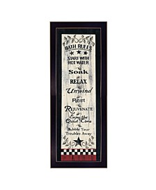 Trendy Decor 4U Bath Rules By Linda Spivey, Printed Wall Art, Ready to hang Collection