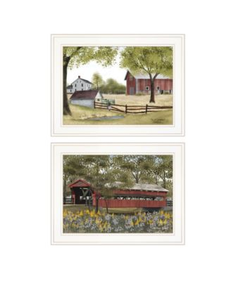 """The Spring House 2-Piece Vignette by Billy Jacob, White Frame, 19"""" x 15"""""""