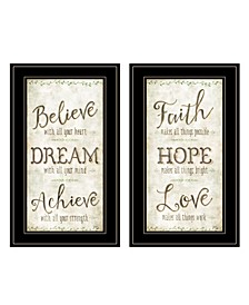 Trendy Decor 4U Faith / Believe 2-Piece Vignette by Mollie B, Frame Collection