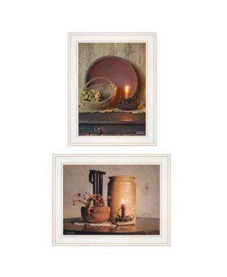 "Red Bowl / Bittersweet Basket 2-Piece Vignette by Susie Boyer, White Frame, 19"" x 15"""