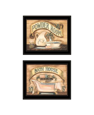 "Bath Powder Room 2-Piece Vignette by Becca Barton, Black Frame, 13"" x 11"""