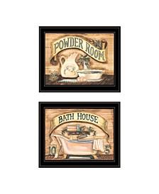 Trendy Decor 4U Bath Powder Room 2-Piece Vignette by Becca Barton Collection