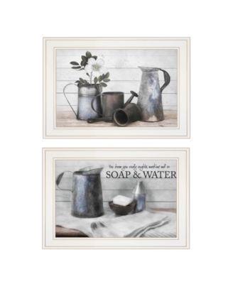 "Soap / Floral 2-Piece Vignette by Robin-Lee Vieira, White Frame, 21"" x 15"""