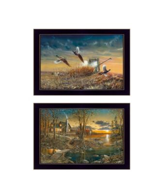 """Comfort of Home Collection By Jim Hansen, Printed Wall Art, Ready to hang, Black Frame, 20"""" x 14"""""""