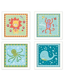 "Trendy Decor 4U Children's Room Collection By Annie LaPoint, Printed Wall Art, Ready to hang, White Frame, 28"" x 14"""